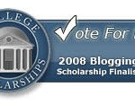 The Blogging Scholarship…In the running!
