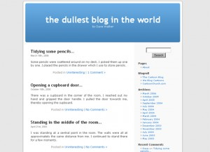 The Dullest Blog in the World