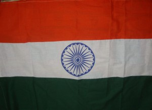 My khadi Indian flag.