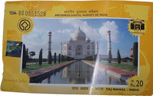 Taj Mahal Entry Ticket